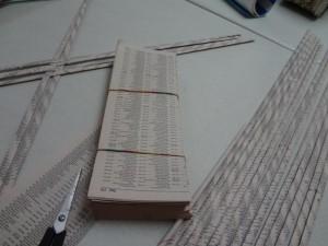 1. Cut the paper.