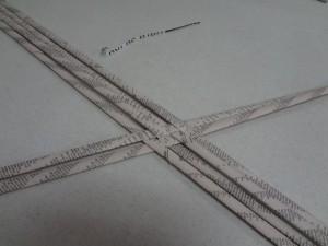 4. Weave alternately.
