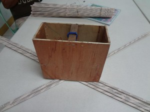 5. Weave along the box.