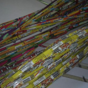 Strips made of Juice Packs