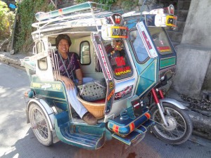 Taking a Tricycle to Go to the Bus Terminal