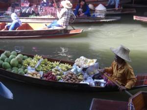 Local People Selling on the Boats