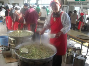 <Sembei Jiru (local soup)>