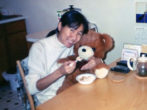"I was one year old in this picture. I look ""beary"" young. So does my mom! (November 1997)"